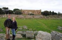 Jacob Emmet and Haley Flagg at Paestum, Italy
