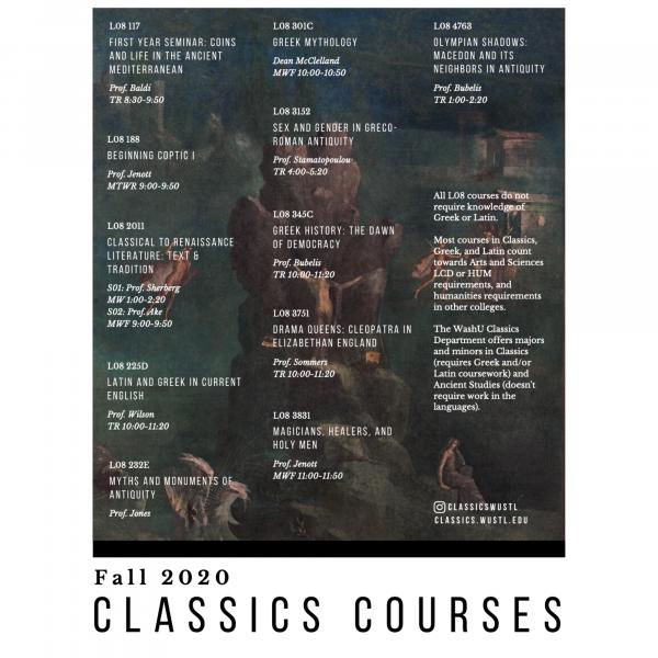 Classics Courses Fall 2020