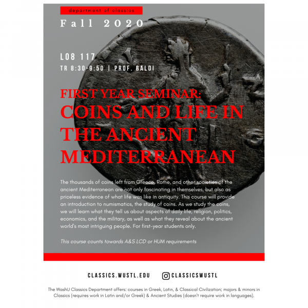 First Year Seminar: Coins and Life in the Ancient Mediterranean