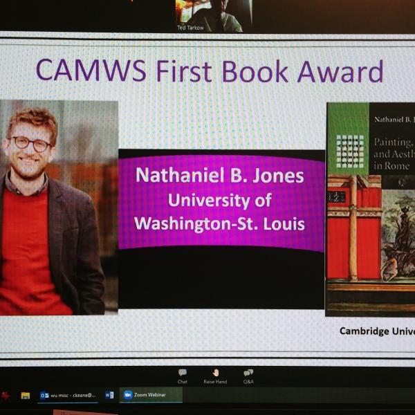 Nate Jones wins First Book Award