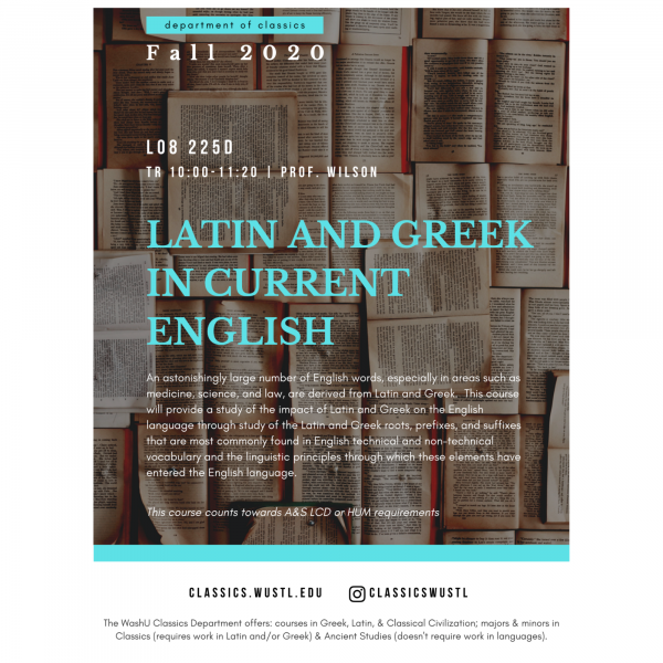 Latin and Greek in Current English