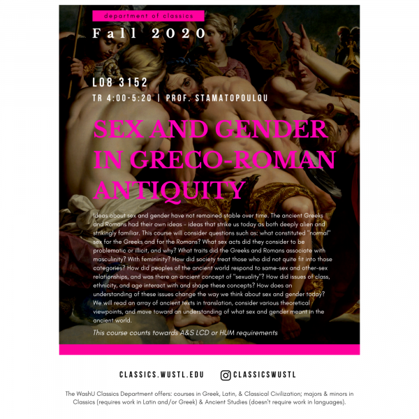 Sex and Gender in Greco-Roman Antiquity
