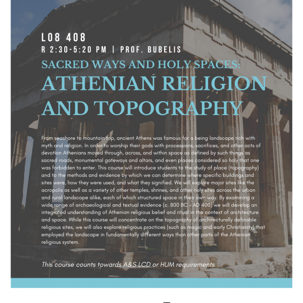 Sacred Ways and Holy Spaces: Athenian Religion and Topography