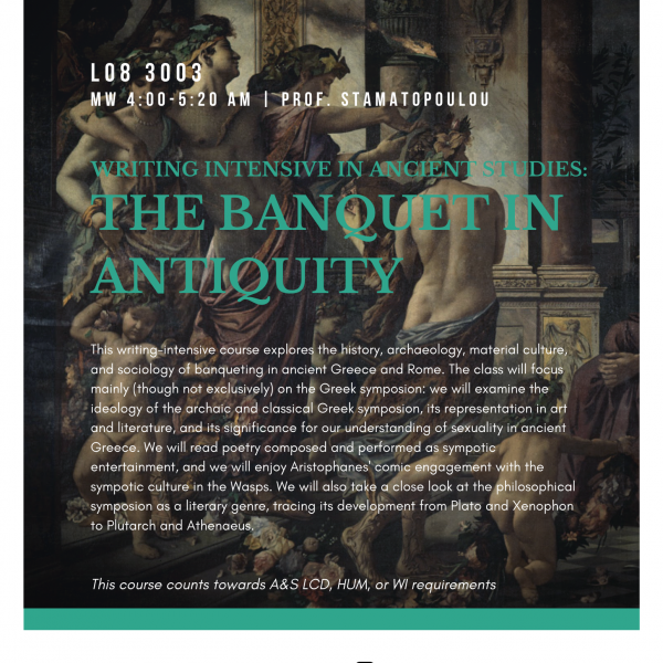 Writing Intensive in Ancient Studies: The Banquet in Antiquity