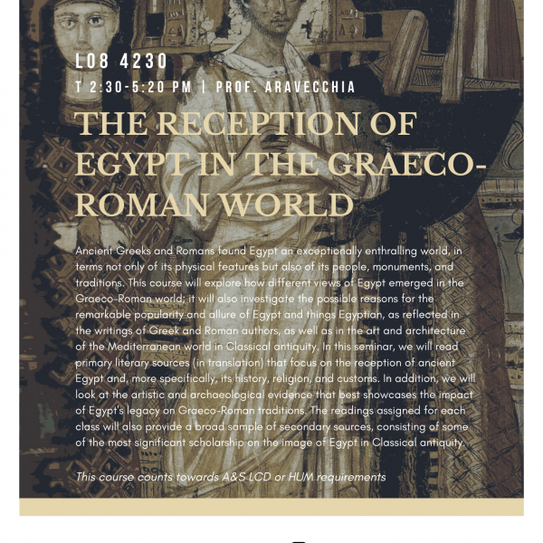 The Reception of Egypt in the Graeco-Roman World