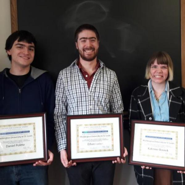 Classics Department Awards Outstanding Students