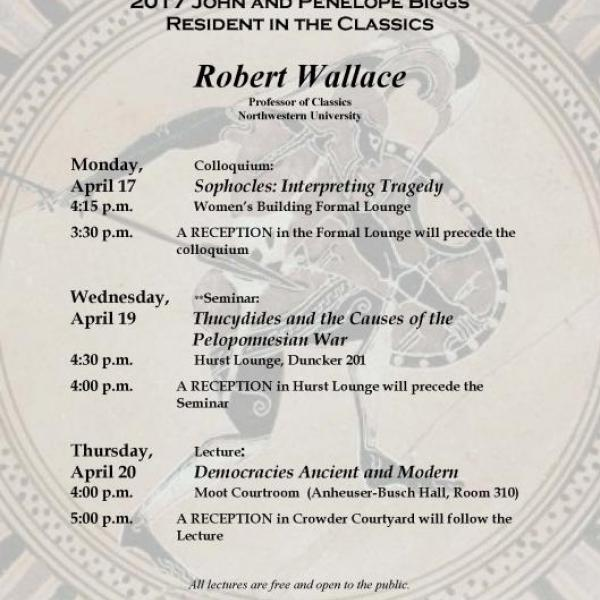 WashU Classics Welcomes John and Penelope Biggs Resident Robert Wallace
